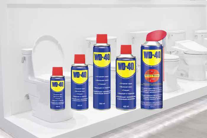 does wd 40 clean toilets