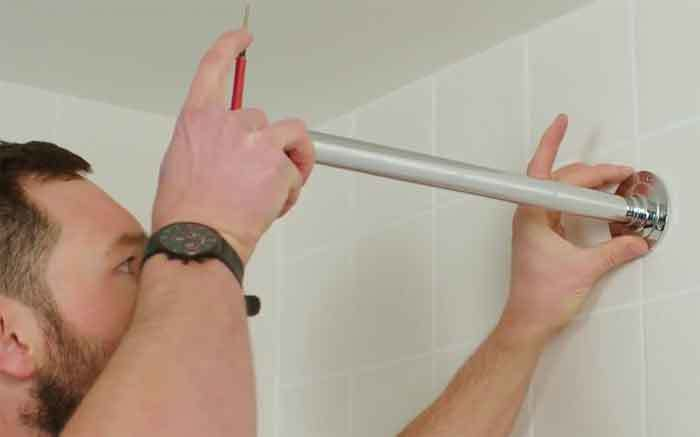 how to install a wall mounted shower arm