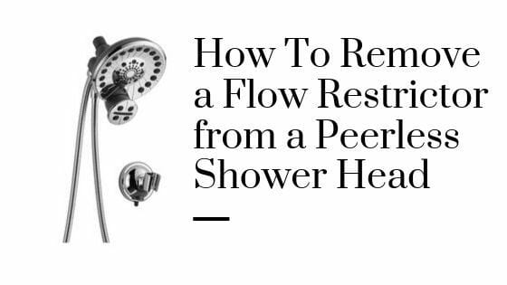 How To Remove a Flow Restrictor from a Peerless Shower Head