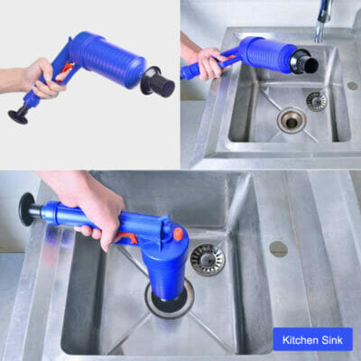 clog demolisher kitchen sink